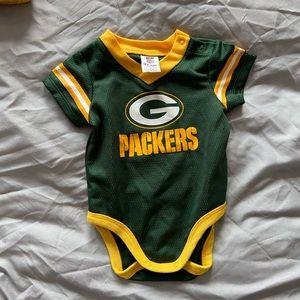 baby green bay packers onesie 0-3 months boy/girl